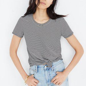 🎃 MADEWELL - KNOT FRONT TEE IN STRIPE